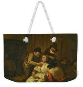 A Tavern Interior With Two Peasants Making Advances On A Maid With Figures Making Music Beyond Weekender Tote Bag