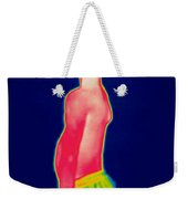 A Thermogram Of A Boy In Shorts Profile Weekender Tote Bag