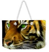 A Tiger's Stare Weekender Tote Bag