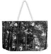 A Time To Go Fishing Bw Weekender Tote Bag