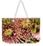 A Touch Of Yellow On Pink Mums Weekender Tote Bag