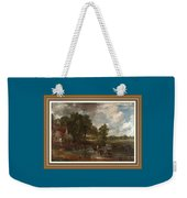 A Tribute To John Constable Catus 1 No. 1 -the Hay Wain L B With Alt. Decorative Ornate Frame. Weekender Tote Bag