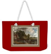 A Tribute To John Constable Catus 1 No.1 - The Hay Wain L A  With Alt. Decorative Ornate Printed Fr  Weekender Tote Bag