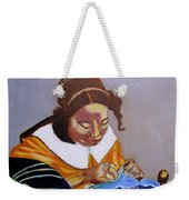 A Tribute To Vermeer  The Lacemaker Weekender Tote Bag