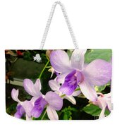 A Trio Of Pale Purple Orchids Weekender Tote Bag