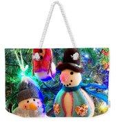 A Trio Of Snowmen Weekender Tote Bag