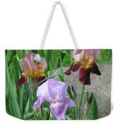 A Trios Of Irises Weekender Tote Bag