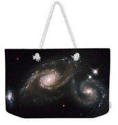A Triplet Of Galaxies Known As Arp 274 Weekender Tote Bag