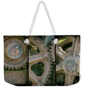 A Triptych Of Old Gears Weekender Tote Bag