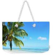 A Tropical Palm Tree Beach Weekender Tote Bag