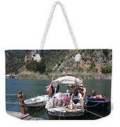 A Turkish Fishing Boat On The Dalyan River Weekender Tote Bag