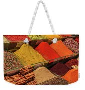 A Typical Set Of Shops In Istanbul Spice Market Weekender Tote Bag