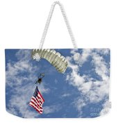 A U.s. Air Force Member Glides Weekender Tote Bag