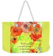 A Vaseful Of Sunshine Weekender Tote Bag