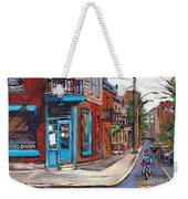 A Vendre Petits Formats L'art De Montreal Originals For Sale Wilensky's Diner Best Montreal Scenes Weekender Tote Bag