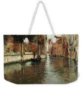 A Venetian Backwater  Weekender Tote Bag by Fritz Thaulow