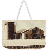 A Very Old Barn And Silo Weekender Tote Bag