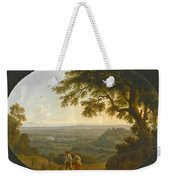 A View Across The Alban Hills With A Hilltop On The Right And The Sea In The Far Distance Weekender Tote Bag