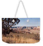 A View Down Into The Canyon That Forms Weekender Tote Bag