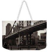 A View From The Bridge - Manhattan Bridge New York Weekender Tote Bag