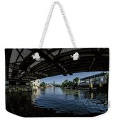 A View Of Chicago From Under The Division Street Bridge Weekender Tote Bag