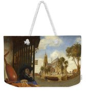 A View Of Delft With A Musical Instrument Seller's Stall Weekender Tote Bag