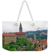 A View Of The Cesky Kromluv Castle Complex In The Czech Republic Weekender Tote Bag