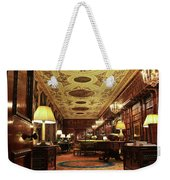 A View Of The Chatsworth House Library, England Weekender Tote Bag
