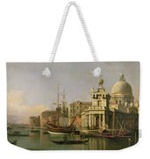 A View Of The Dogana And Santa Maria Della Salute Weekender Tote Bag by Antonio Canaletto