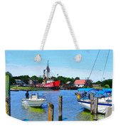 A View Of The Light Ship Weekender Tote Bag