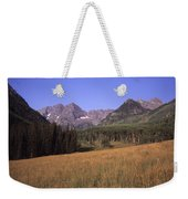 A View Of The Maroon Bells Mountains Weekender Tote Bag