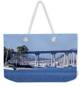 A View Of The South End Of The San Diego-coronado Bridge Weekender Tote Bag