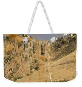 A View Of The Tajo De Ronda And Puente Nuevo Bridge Serrania De Ronda Andalucia Spain Weekender Tote Bag