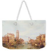 A View Of Verona Weekender Tote Bag by George Clarkson Stanfield