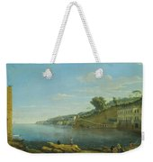 A View Of Villa Martinelli At Posillipo Weekender Tote Bag