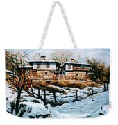 A Village In Winter Weekender Tote Bag