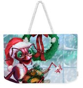 A Visit With Santa Weekender Tote Bag