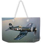A Vought F4u-5 Corsair In Flight Weekender Tote Bag by Scott Germain