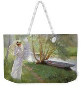 A Walk By The River Weekender Tote Bag