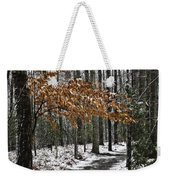 A Walk In The Snow Quantico National Cemetery Weekender Tote Bag