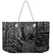 A Walk Through The Willowbrae Rainforest Black And White Weekender Tote Bag