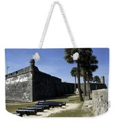 A Wall Of The Castle At San Marcos Weekender Tote Bag