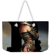 A Warrior Stands Alone Weekender Tote Bag