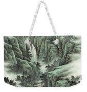 A Waterfall In The Mountains Weekender Tote Bag