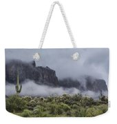 A Wave Of Fog On The Superstitions  Weekender Tote Bag
