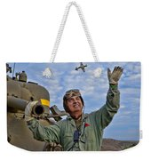 A Wave To A Friend Weekender Tote Bag