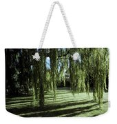 A Weeping Willow Casts Long, Cool Weekender Tote Bag