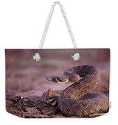 A Western Diamondback Rattlesnake Weekender Tote Bag