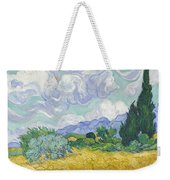 A Wheat Field, With Cypresses Weekender Tote Bag
