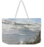 A White Calm After Thunder Showers Weekender Tote Bag